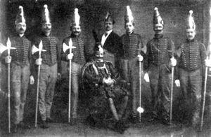 Prinzengarde im Jahre 1914