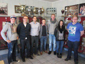 Auf dem Foto von links nach rechts: André Selter, Alexander Briese, Marcel Gärtner, Lukas Johannes, Julian Höffer, Pia Bock, Jannik Isphording
