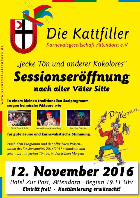 kg-attendorn plakat sessionseröffnung 2016