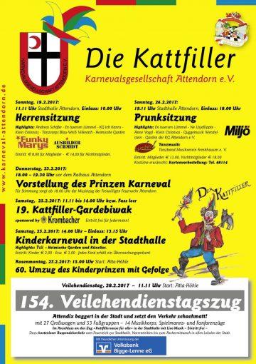 Karneval in Attendorn Plakat 2017