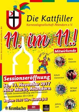Die KAttfiller - Sessionseröffnung - 11. im 11.!