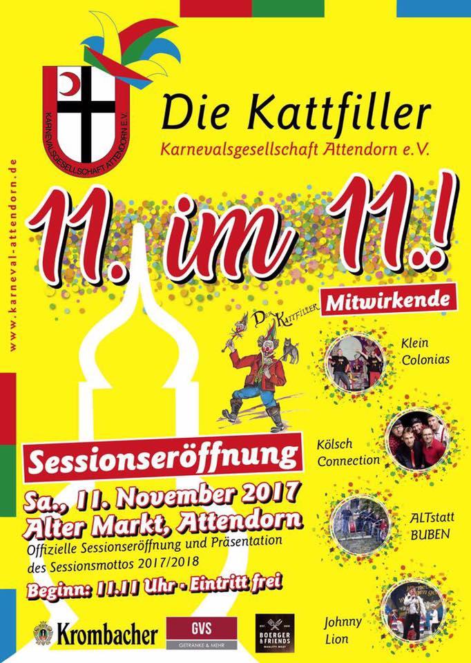 Kattfiller Saison-Eröffnung 2017/18