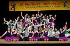 Mini-Biggesterne und Regimentstöchter mit Podestplätzen beim 19. Kattfiller-Tanzturnier