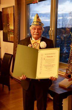 Ehrung und Verleihung des BDK-Verdienstordens in Gold mit Brillanten für Raimund Isphording