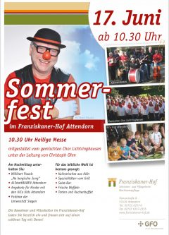 Sommerfest im Franziskaner-Hof mit den ALTstattBUBEN