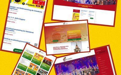 Die Online-Präsenz unserer Karnevalsgesellschaft erstrahlt ab sofort in neuem Glanz.